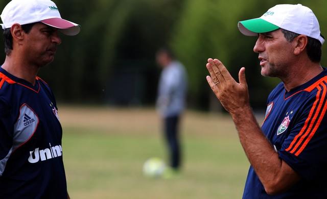 Alexandre Mendes e Renato Gaúcho treino Fluminense (Foto: Nelson Perez / Flickr do Fluminense)