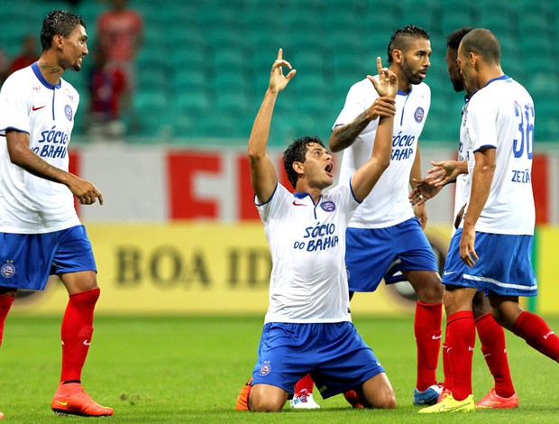 Fahel comemora gol do Bahia contra o Goias (Foto: Getty Images)