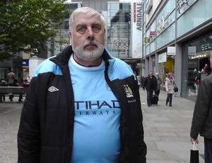 John Boden torcedor do Manchester city  (Foto: Claudia Garcia)