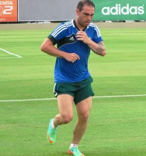 Bruno Cesar treino Palmeiras (Foto: Marcelo Hazan)