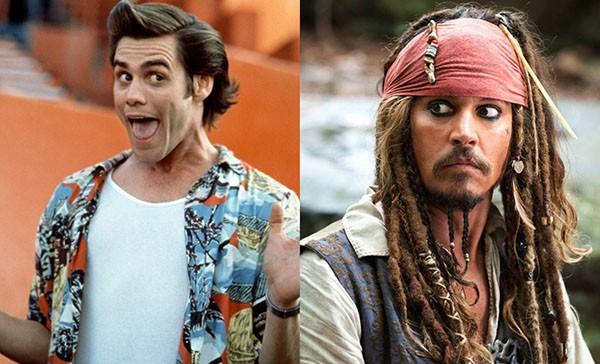 Jim Carrey e Johnny Depp (Foto: Reprodução)