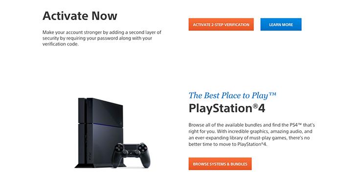 Clique no botão laranja para iniciar o processo na PSN (Foto: Reprodução/Murilo Molina)