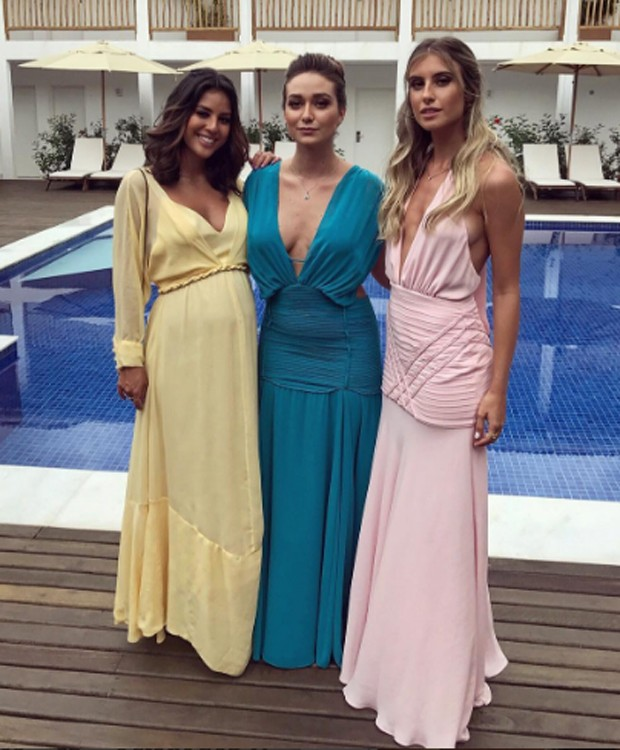 Yanna Lavigne, Maria Pinna e a amiga Isabella Mezzadri (Foto: Reprodução/Instagram)