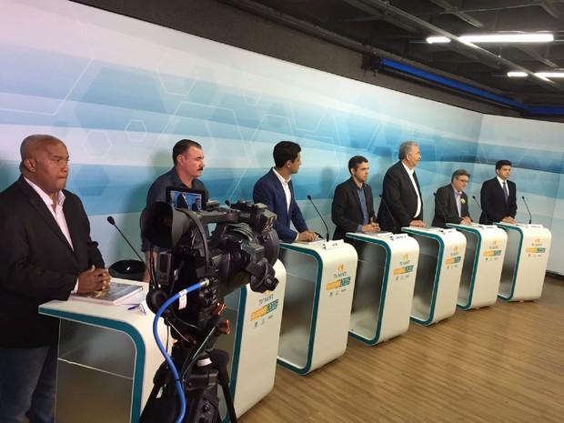 Debate contou com a participação dos 7 candidatos à prefeito (Foto: Divulgação / TV MAR)