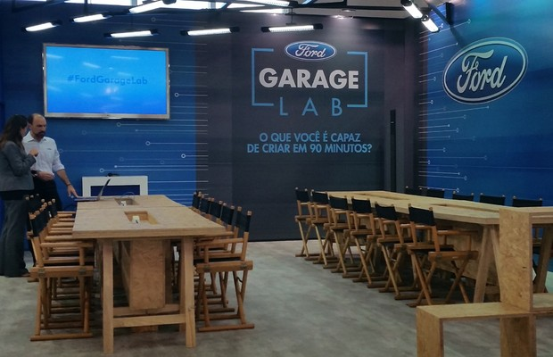 Estande da Ford na Campus Party 2016 (Foto: Thuany Coelho/Autoesporte)