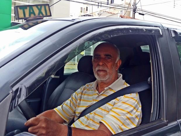 Jaci Alves, taxista, Varginha (Foto: Régis Melo)