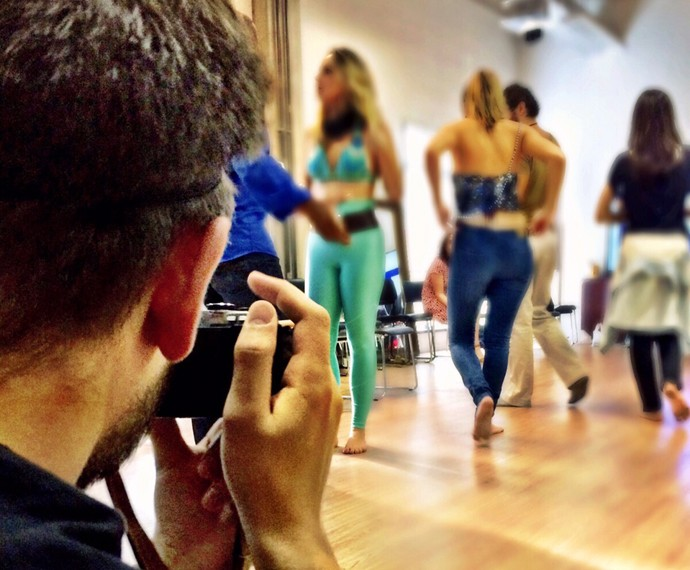 Em sua preparação, Daniel Rocha despertou o olhar criativo em aulas com o fotógrafo Lucas Landau (Foto: Arquivo Pessoal)