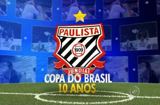 Série comemora 10 anos da conquista da Copa do Brasil pelo Paulista de Jundiaí (Foto: Reprodução/TV TEM)