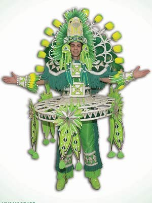 Única fantasia em verde e branco da Mocidade só tem sete unidades à venda (Foto: Reprodução/ Mocidade Independente de Padre Miguel)