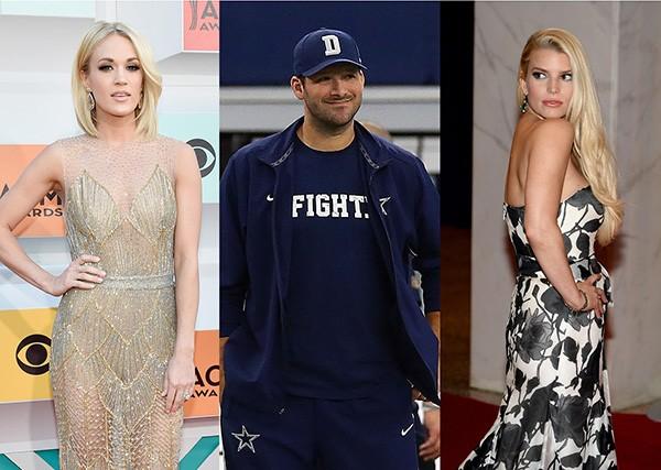 Carrie Underwood, Tony Romo, Jessica Simpson (Foto: Getty Images)