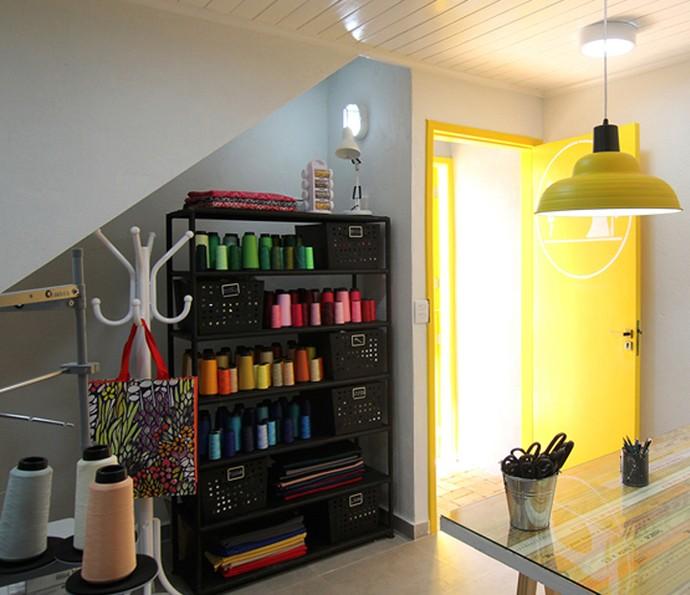 Sala de costura da Inalda (Foto: TV Globo)