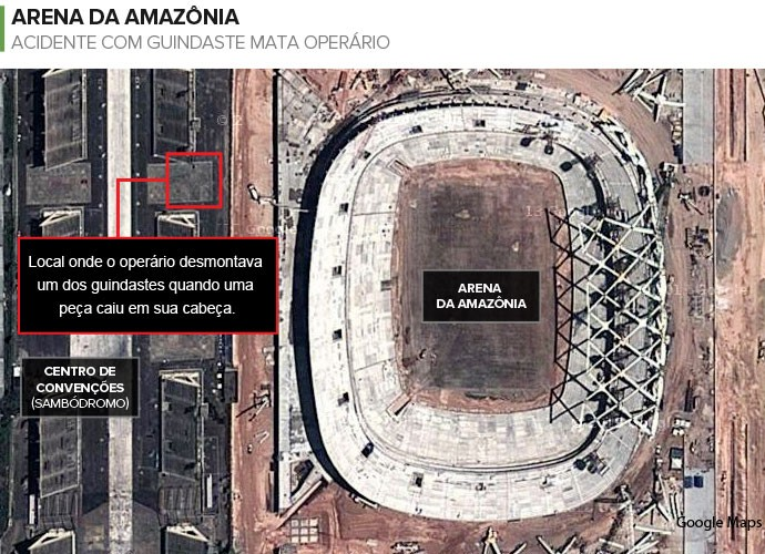 info acidente arena da amazonia (Foto: infoesporte)