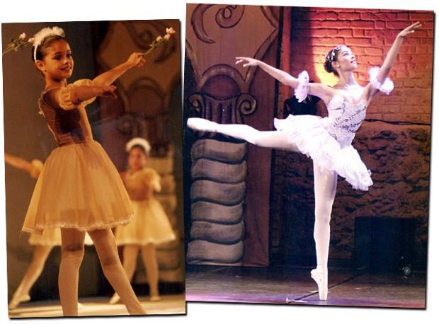 Sophie fez balé clássico dos 5 aos 18 anos, quando se formou (Foto: Arquivo Pessoal e Reprodução)