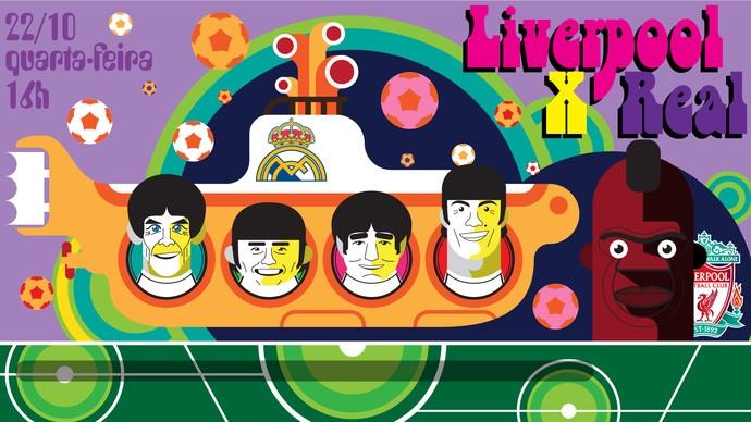 Ilustração Liverpool X Real Madrid 1920x1080 (Foto: infoesporte / cláudio roberto)