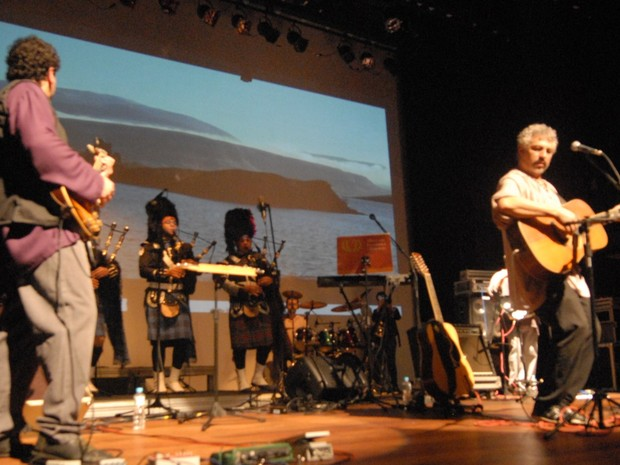 Lummen músicas medievais em Petrópolis (Foto: Marcus Lima)