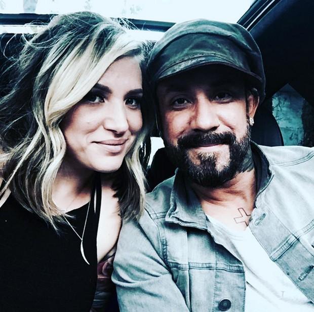 Aj e sua mulher Rochelle (Foto: Reprodução)