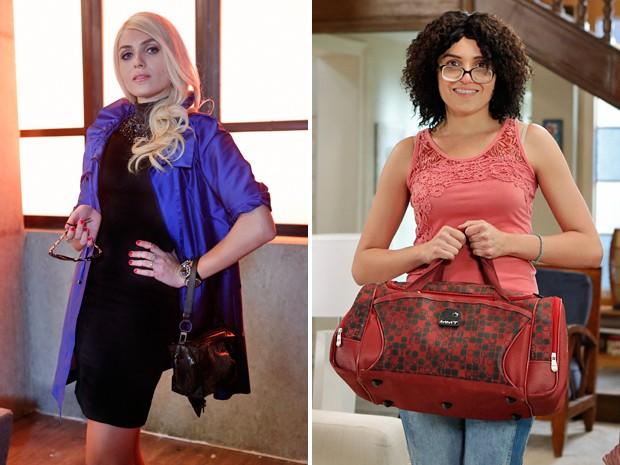 Scarlett antes e depois da transformação (Foto: Felipe Monteiro / Gshow)
