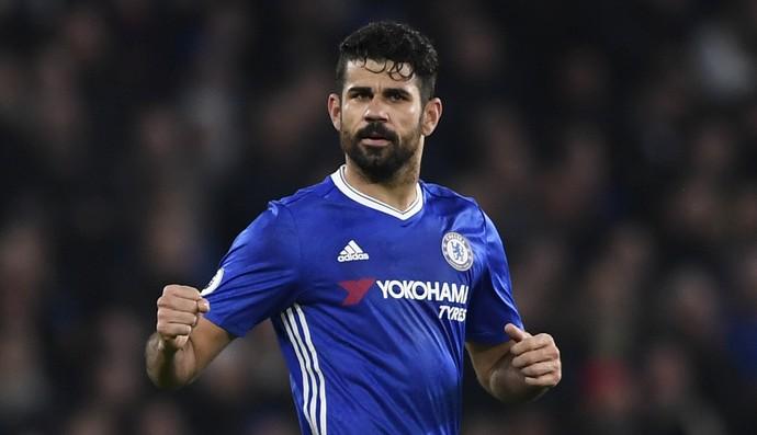 Diego Costa Chelsea x Stoke (Foto: Reuters)