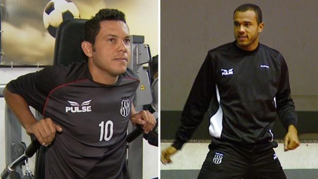 Marcinho e Roger, estrelas do elenco da Ponte Preta (Foto: Editoria de Arte / Globoesporte.com)