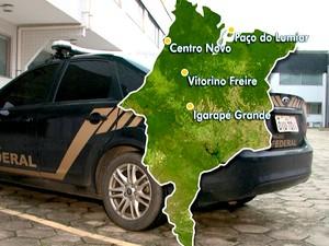 Prisões ocorreram em quatro cidades maranhenses (Foto: Reprodução/TV Mirante)