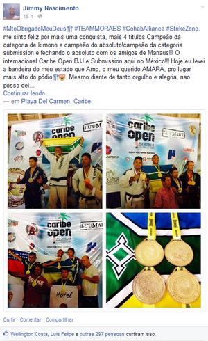 Jimmy Nascimento; Jiu-jítsu; Amapá (Foto: Reprodução/Facebook)