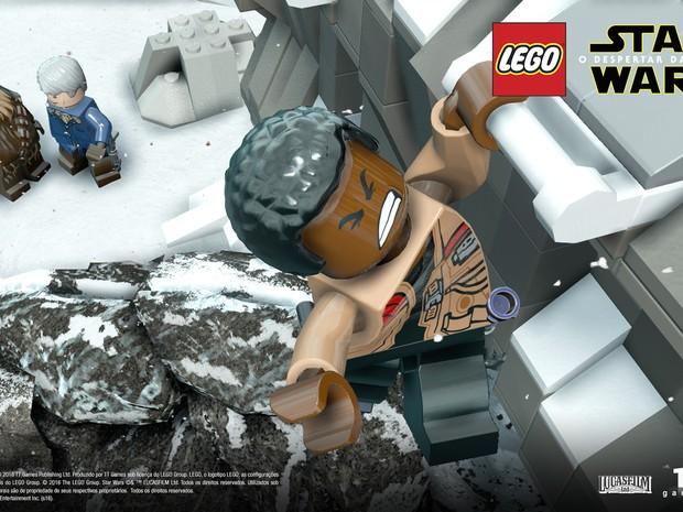'Lego Star Wars: O despertar da força' traz todos os novos personagens do filme, como o ex-stormtrooper Finn (Foto: Divulgação/Warner Bros. Games)
