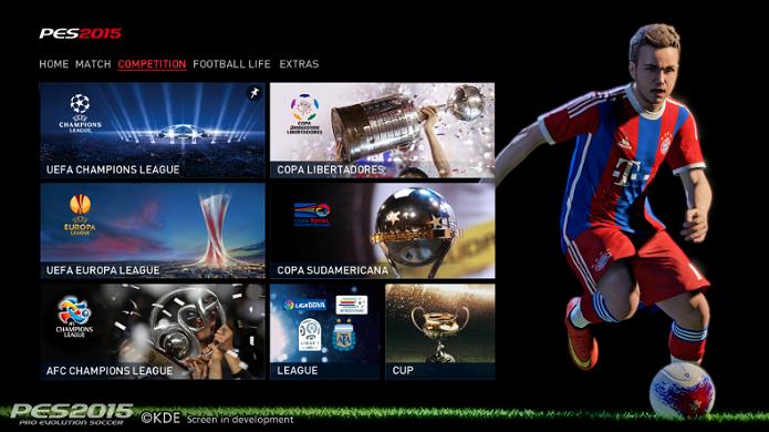 PES 2015 terá várias competições oficiais (Foto: Divulgação/Konami)