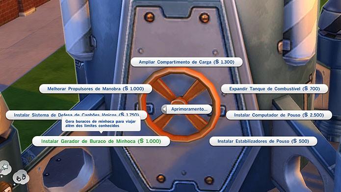 Instale o Gerador de Buraco de Minhoca para viajar para outros mundos (Foto: Reprodução/Tais Carvalho)