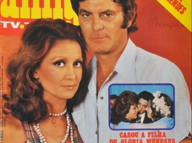 Jô Penteado (Eva Wilma) e Fábio (Carlos Zara) em A Barba Azul