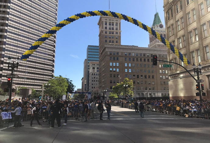 Golden State Warriors Champion Parade Oakland NBA (Foto: Twitter/Golden State Warriors)
