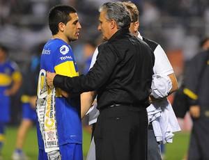 Riquelme e Tite, Corinthians x Boca Juniors (Foto: Marcos Ribolli  / Globoesporte.com)