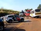 Motorista morre após bater picape de frente com micro-ônibus em vicinal