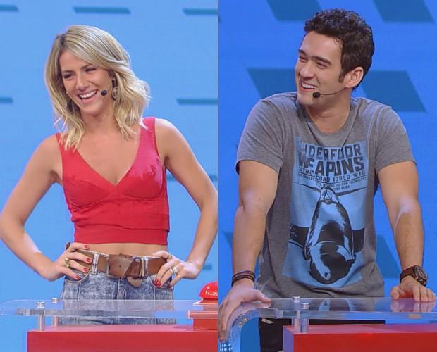 Gio Ewbank e Marcos Veras são os convidados do quadro (Foto: TV Globo)