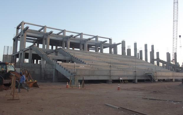 Setor Sul da Arena das Dunas (Foto: Matheus Magalhães/Globoesporte.com)