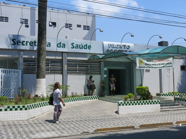 Caso foi registrado na Delegacia da Mulher em São Vicente (Foto: Anna Gabriela Ribeiro / G1)