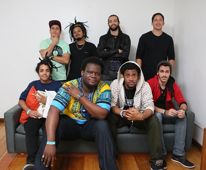 Nos bastidores, Big e Izzy, do Dois Africanos, falaram sobre a fama pós-programa (Foto: Isabella Pinheiro/Gshow)