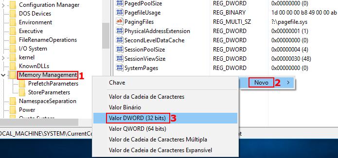 Criando uma nova chave no registro do Windows (Foto: Reprodução/Edivaldo Brito)