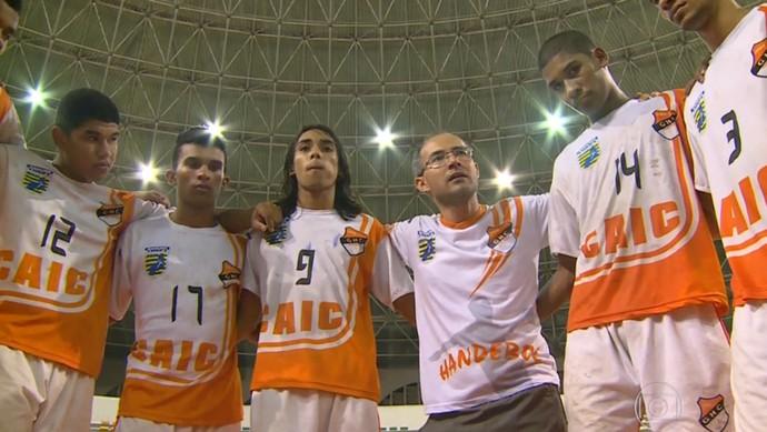 Caic, equipe de handebol do Piauí  (Foto: Reprodução/TV Globo)