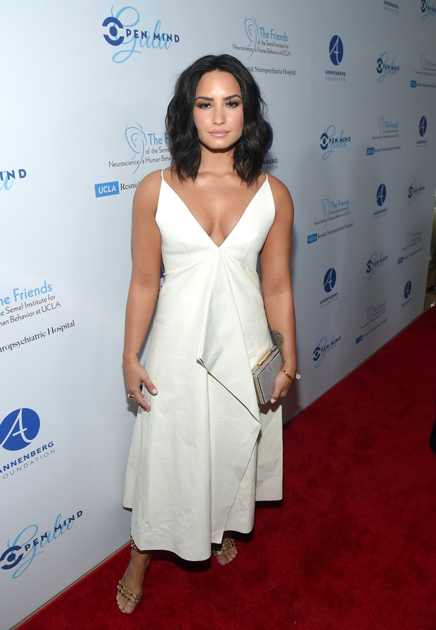 Demi Lovato em evento beneficente em Los Angeles, nos Estados Unidos (Foto: Matt Winkelmeyer/ Getty Images/ AFP)