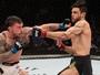 """Glaico é """"amarrado"""" e perde para estreante na abertura do UFC Brasília"""