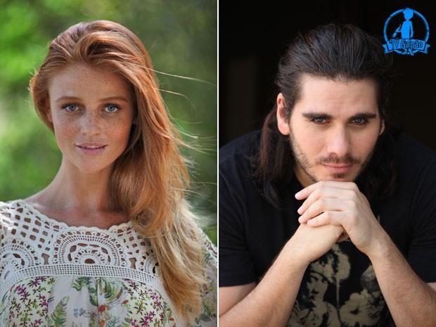 Cíntia Dicker e Gabriel Sater (Foto: Carol Caminha/TV Globo)