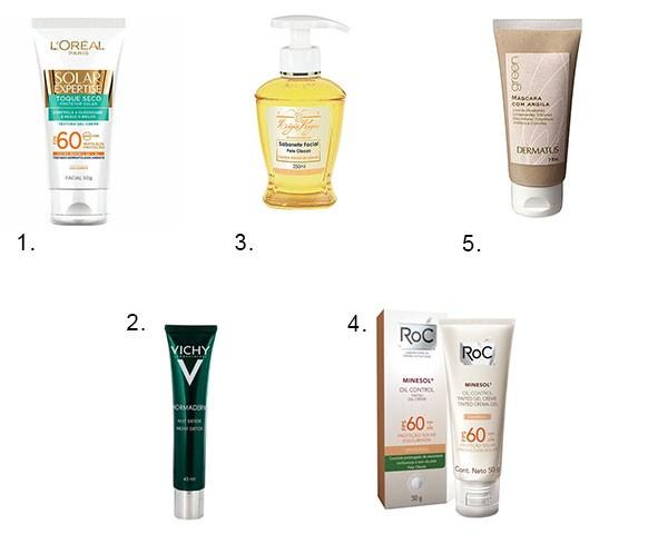 Produtos para cuidados com a pele oleosa no verão (Foto: Divulgação)