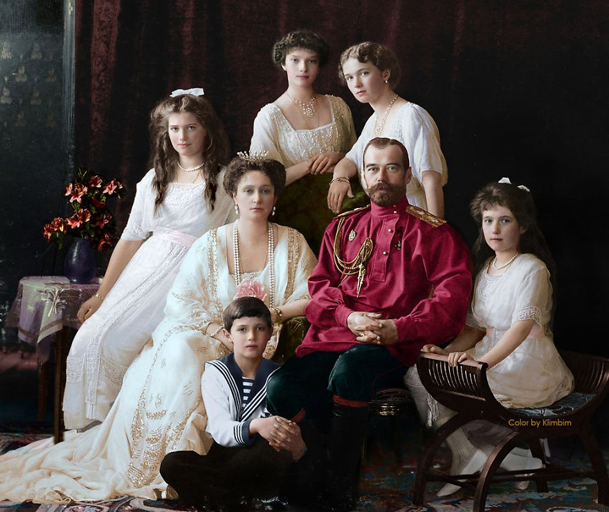 Família de Nicolau II da Rússia, em 1914 (Foto: Reprodução)