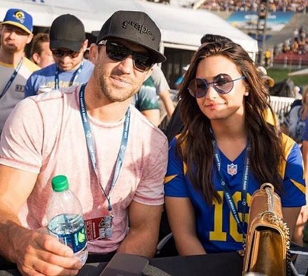 Luke Rockhold e Demi Lovato (Foto: Reprodução/Instagram)