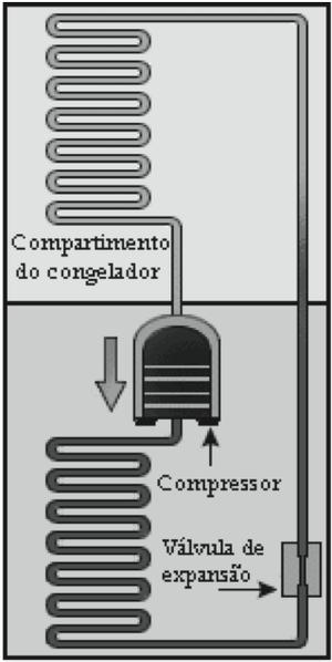 Modelo de geladeira em funcionamento (Foto: Reprodução/ENEM)