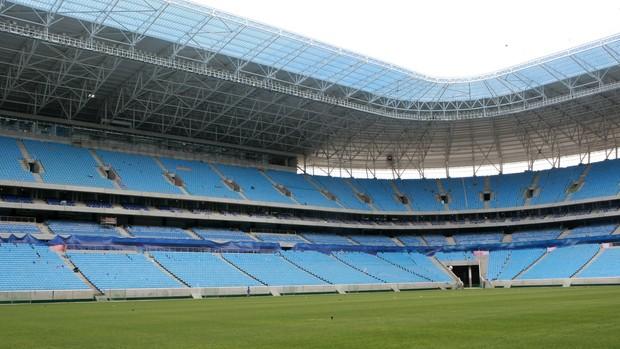 Cadeiras da Arena do Grêmio (Foto: Wesley Santos/Pressdigital)