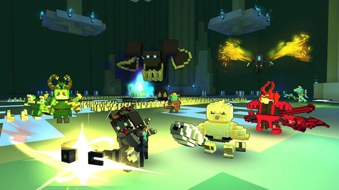 Trove traz a aparência e possibilidade de criação de Minecraft para o tradicional mundo dos MMOs (Foto: Reprodução/Steam)