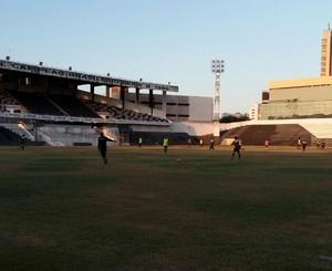 Patativa realizou treino coletivo nesta quarta-feira (Foto: Warley Santos)