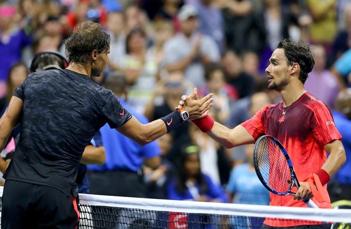 Rafael Nadal e Fabio Fognini US Open (Foto: Getty)