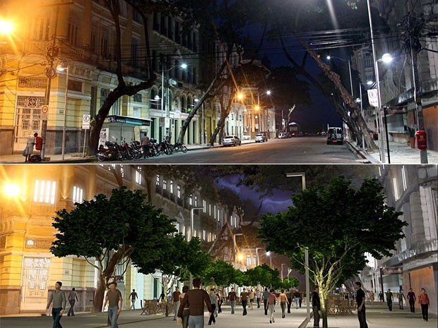 Novo projeto da Avenida Rio Branco (Foto: Reprodução / Prefeitura do Recife)